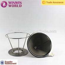 Venta caliente promocional útil estilo cesta estilo acero inoxidable café accesorios