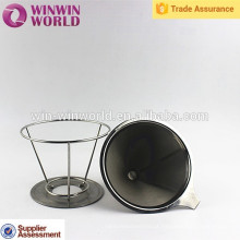 Venda quente promocional útil útil cesta estilo aço inoxidável café acessórios