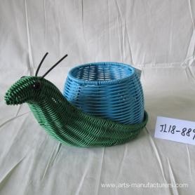 Plastic Rattan Snail Flower Pot