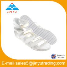Damen Schuhe weiße Farbe mit Gold gute Qualität Matel Wölbung