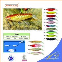 MNL060 cheap fishing tackle minnow lure plastic fishing lure combo