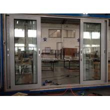 Porte coulissante en aluminium à rupture thermique avec maillage