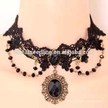 French fabric lace necklace handmade Gothic lace necklace