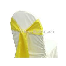 gelb, ausgefallene Mode satin Stuhl-Schärpe binden zurück, Fliege, Knoten, Hochzeit günstige Stuhlhussen und Schärpen für Verkauf