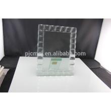 Durável usando moldura de foto de cristal de baixo preço