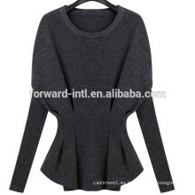 2014 otoño e invierno mujeres camisa de batwing de moda manga larga suéter de cachemira suéter de lana de punto