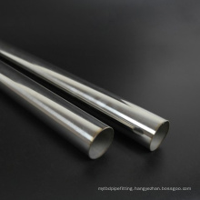 201 304 Wedled curtain rod Polished Metal Stainless Steel Pipe Curtain Price