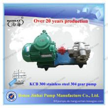 Handelsübliche hydraulische Zahnradpumpe aus Edelstahl 304 KCB 300 in Pumpen