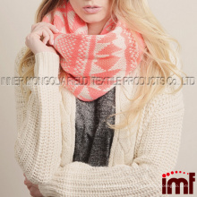 Tribal Chunky Knit Winter Infinity Tube Scarf