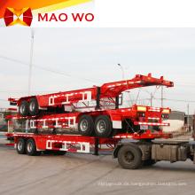 Überlegener 20ft 3-Achsen-Skeleton Container Truck Trailer