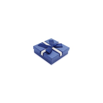 Bule garment gift box with ribbon