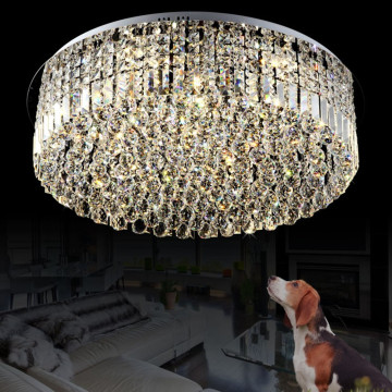 modern simple square crystal ceiling light