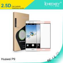 Película protectora de pantalla de cristal templado ultra fino de primera calidad para Huawei P9