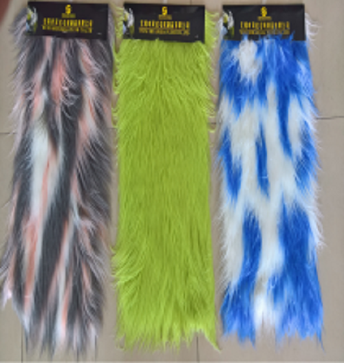 Roller Beam Natural Faux Wool Fur