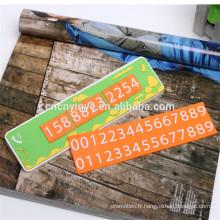 Carte de stationnement temporaire de vente chaude en caoutchouc souple pvc, PVC 2D relief mouvement anglo-saxon de voiture
