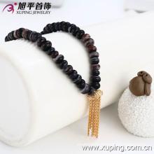 Xuping розария бисера 18k золото цвета цепи хвост ожерелье (42302)