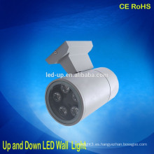 IP65 moderna ronda de luz de pared LED de interior hacia arriba y hacia abajo luz de pared LED