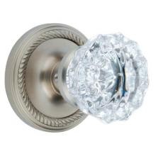 Satin Nickel Crystal Privacy Knob