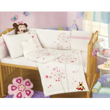 Conjunto de cama de algodão orgânico bebê
