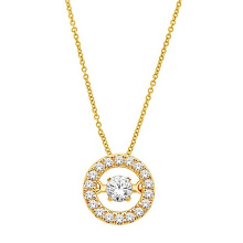 Jóias de diamante de diamante de ouro 18k 925 Pingentes de prata