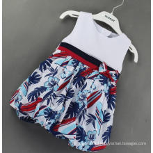 Check Baby Dress in Children Clothes in British Wind Clothes
