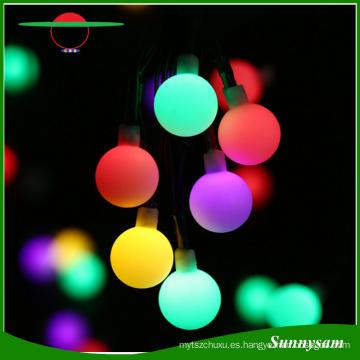 Globo 50 luces de la secuencia de la bola del LED Iluminación decorativa accionada solar de la luz de la Navidad para el jardín casero Decoraciones del partido del césped del patio