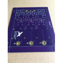 ENIG PCB 4 couches 2.4mm 4OZ violet soudure