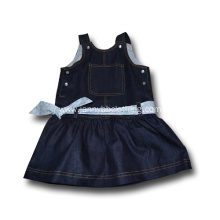 cotton black denim overall dress