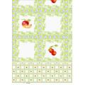 Mantel transparente impresa PVC barato popular (TJ0052) Fábrica de Lfgbchina