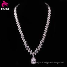 Vente en gros 2016 Quaility New Design en laiton en cuivre Jewelry Statement Necklace