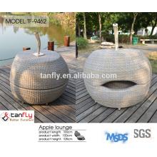 metal outdoor furniture modern leisure used rattan sofa for sale