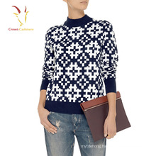 Lady Intarsia Chunky Womens Best Sweaters for Women