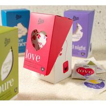 Caja de cartón de cajas de almacenamiento de bolsa de té con ventana