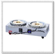 K083 2 Calderas Encimera de acero inoxidable Electirc Cocinas Cafeteras