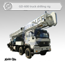 600 meters depth Truck mounted core drilling machine for mineral exploration