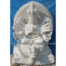 Stone Marble Buddha Statue Kwan Yin for Feng Shui (SY-T142)
