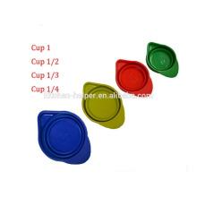 2015 Новый продукт Продовольственная Инструменты для кулинарии Складные силиконовые мерные чашки Набор для 250 мл 125 мл 80 мл 60 мл / Силиконовые мерные чашки