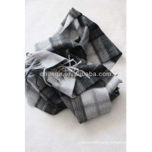 men's wool checked scarf