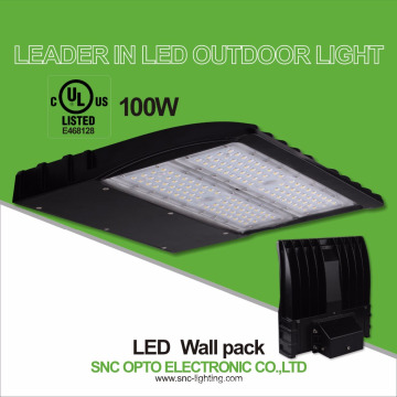 outdoor ul cul listed 100w led wall mounted light wall pack lamp
