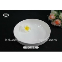 Hot selling food safety colored ceramic plate with decal printed