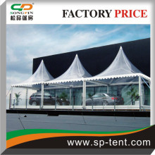 Transparent PVC 6x6m traditional marquee pavilion in aluminum Structure