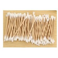 Esponja de algodón de madera promocional del palillo, algodón 100% de la esponja de algodón del maquillaje