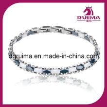 Elegants Style Stainless Steel and Ceramic Bracelet Jewelry (RB067)