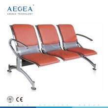 АГ-TWC003 холодной прокатки стальной плиты трех-местный стул общественного ожидания