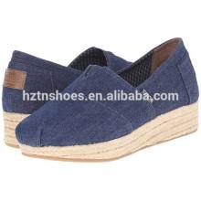 Дешевые оптовая обувь Espadrille женщин Casual 2016 плоский ботинок женщин