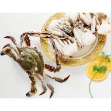 Fryst halv Cut blå krabba