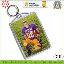 Porte-clés en acrylique en plastique transparente personnalisée pour cadeau promotionnel