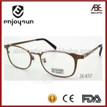 Nouveau modèle de lunettes optiques hommes rond matériel métal mémo de Chine