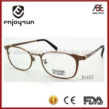 new model optical spectacle men round memory metal material from China