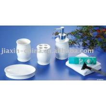Conjunto de banheiro de cerâmica para mulheres porcelana banheiro conjunto de acessórios
